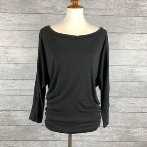 Michael Stars Boat Neck Dolman Long Sleeve Top OS